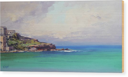 Bondi Beach Colours Wood Print
