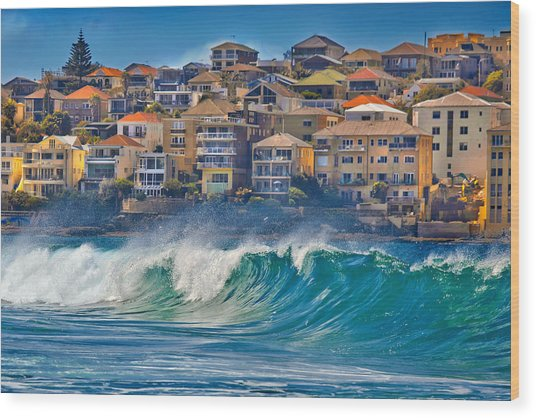 Bondi Waves Wood Print