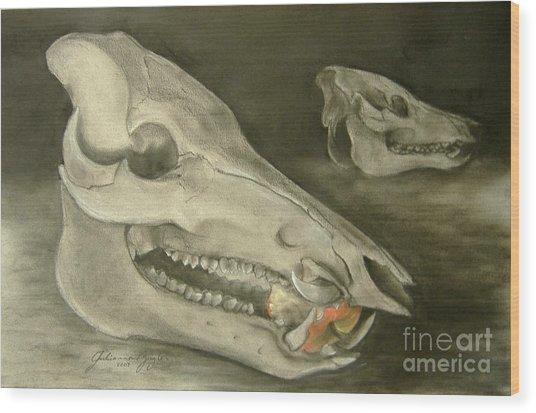 Bone Appetit Wood Print by Julianna Ziegler