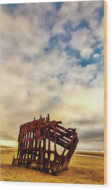 Bones Of A Shipwreck Wood Print