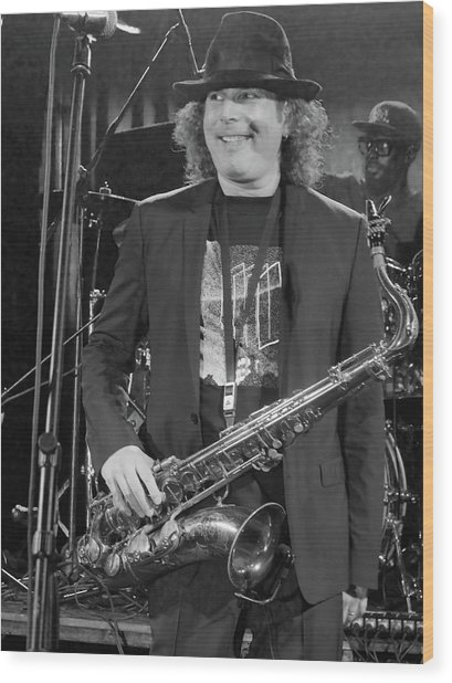 Boney James Smiling At Hub City '17 Wood Print