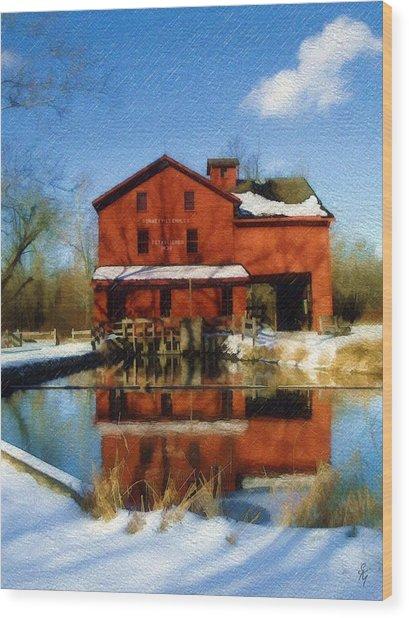 Bonneyville In Winter Wood Print