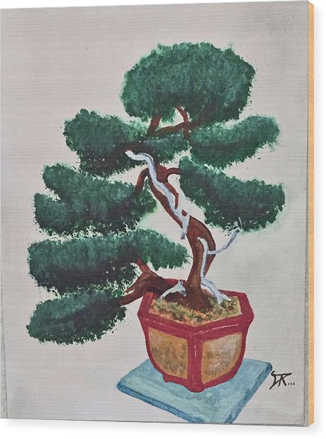 Bonsai #3 Wood Print