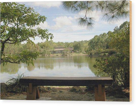 Bonsai Lake Wood Print