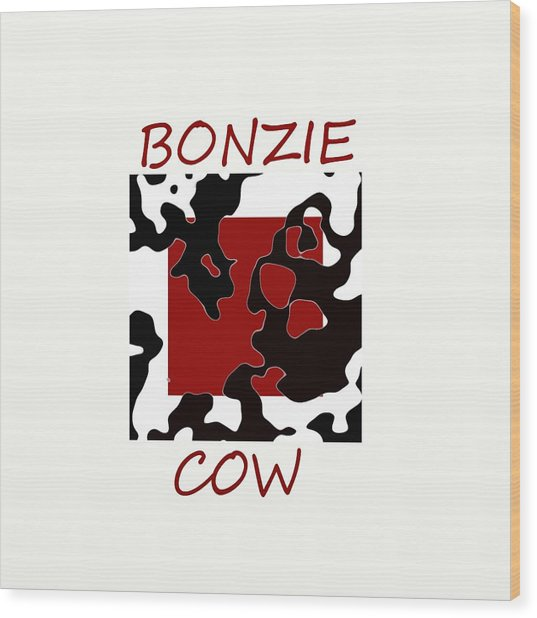 Bonzie Cow Wood Print