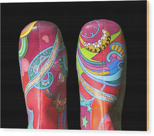 Boogie Shoes 2 Wood Print by Mary Johnson