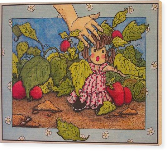 Book Illustration Wood Print by Victoria Heryet