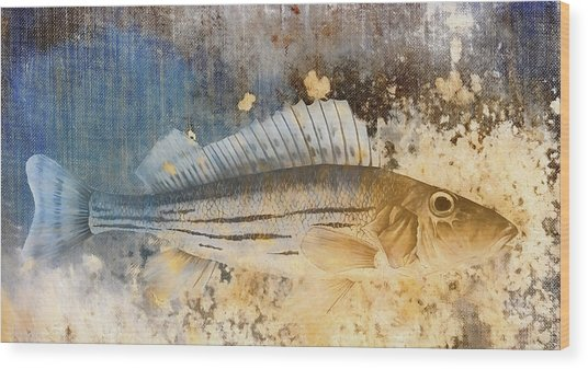 Book Of Fish Collage Wood Print