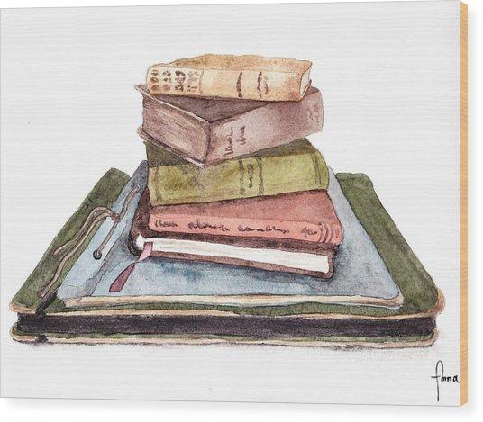 Books Wood Print