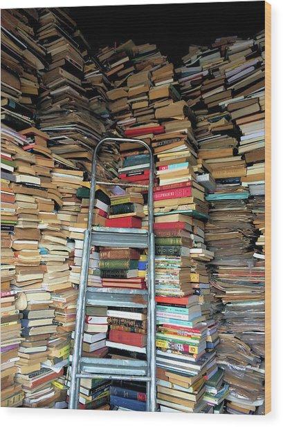 Books For Sale Wood Print