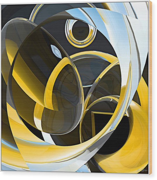 Boolean Refractions Wood Print by Peter J Sucy