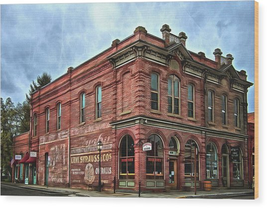 Boomtown Saloon Jacksonville Oregon Usa Wood Print