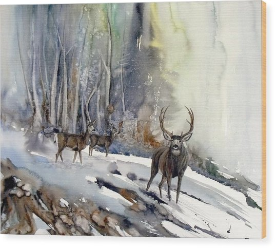 Boone And Crockett Wood Print by Lynne Parker