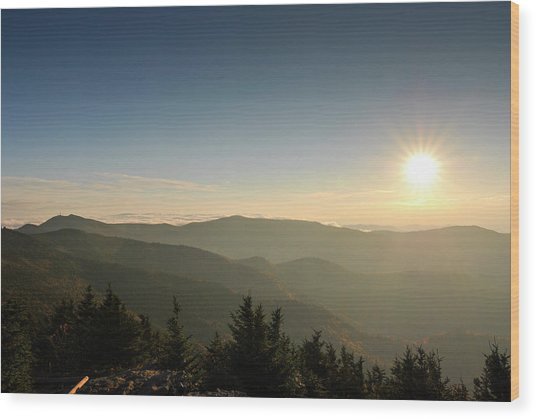 Boone Nc Area Sunset Wood Print