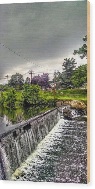Boonton New Jersey Spillway Wood Print
