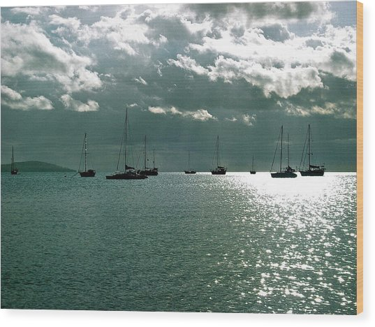 Boqueron Bay Wood Print