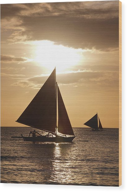 Boracay Philippines A 169 Wood Print by Per Lidvall