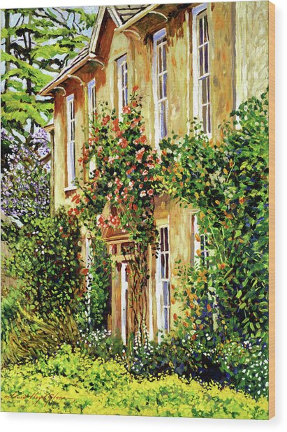 Bordeaux Garden House Wood Print by David Lloyd Glover