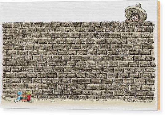 Border Wall Wood Print