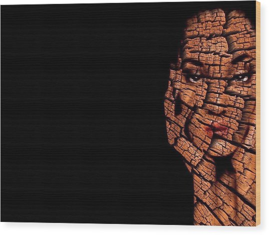 Wood Print featuring the digital art Bored Stiff by ISAW Company
