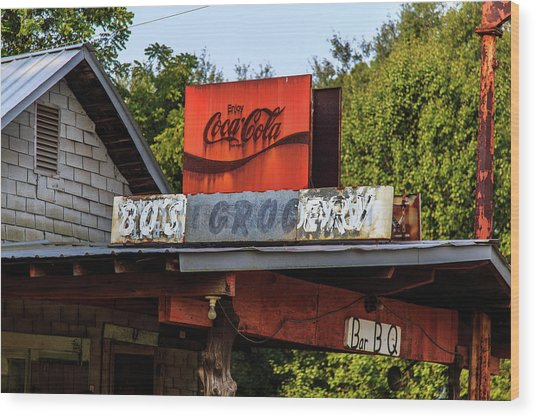 Bo's Grocery Wood Print