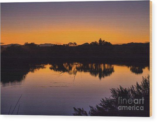 Bosque Del Apache Sunset Wood Print
