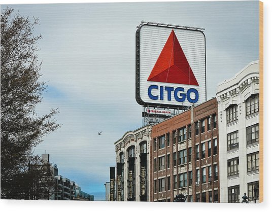 Boston Citgo Sign Wood Print by Ryan McKee