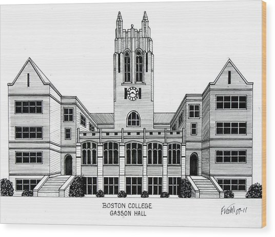 Boston College Wood Print