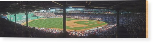 Boston Fenway Park Wood Print