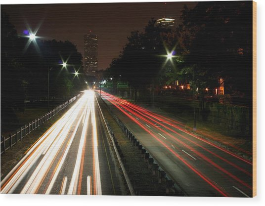 Boston Highway Wood Print by Jason Hochman