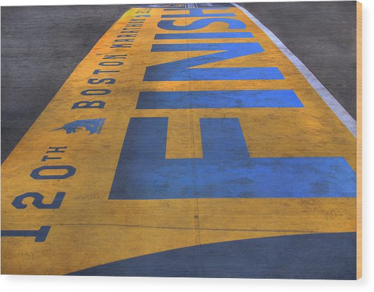 Boston Marathon Finish Line Wood Print