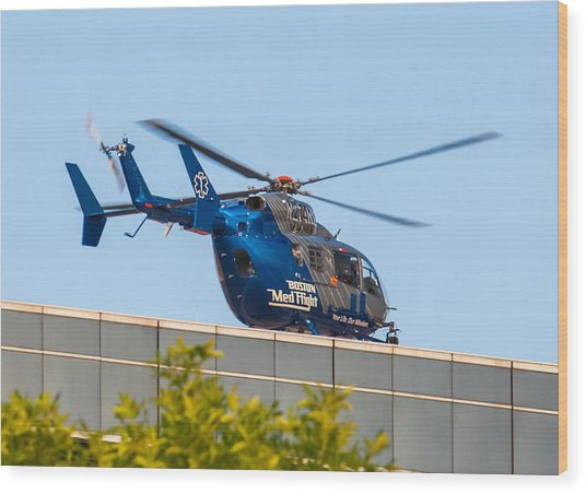 Boston Medflight Wood Print