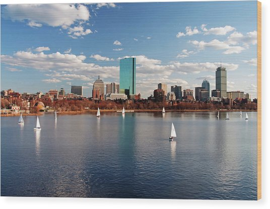 Boston On The Charles  Wood Print