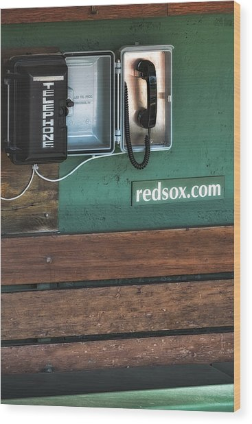 Boston Red Sox Dugout Telephone Wood Print