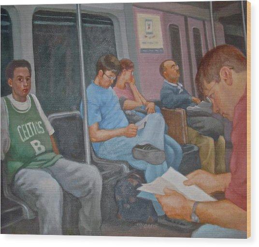 Boston Subway Wood Print