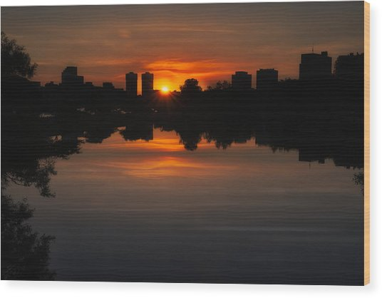Boston Sunrise Wood Print