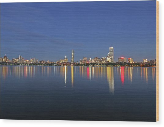 Boston Tallest Skyscrapers Wood Print by Juergen Roth