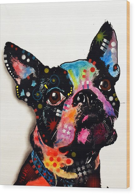 Boston Terrier II Wood Print