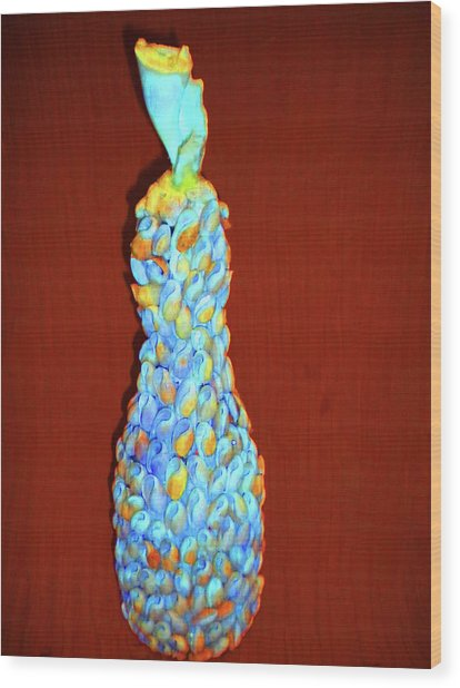 Bottel Flower Shell  Wood Print by Arlin Jules