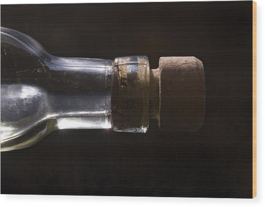 Bottle And Cork-1 Wood Print