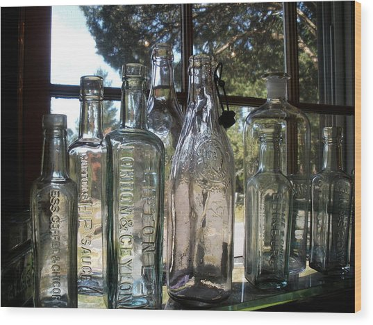 Bottled Up Wood Print by Richard Mansfield