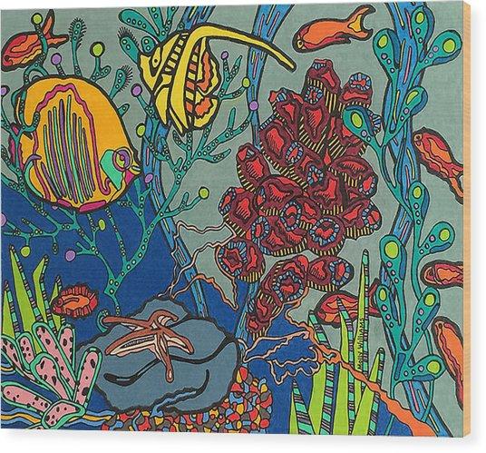 Bottom Of The Sea Wood Print
