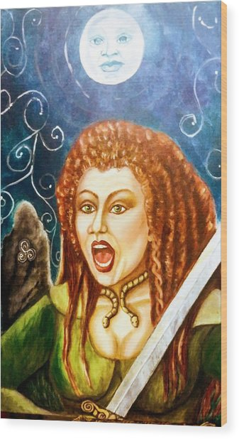 Boudicca  Let Not Our Daughters Be Forgotten Wood Print