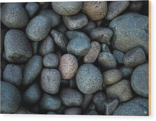 Boulder Beach Rocks Wood Print
