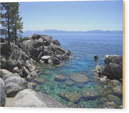 Boulder Cove On Lake Tahoe Wood Print