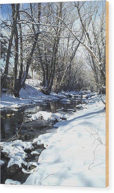 Boulder Creek After A Snowstorm Wood Print