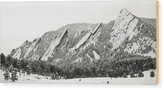 Boulder Flatirons Colorado 1 Wood Print
