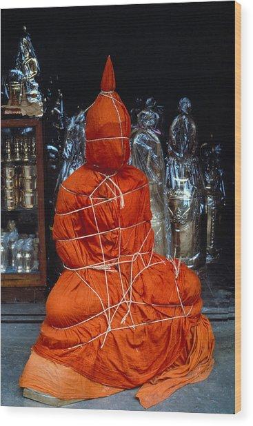 Bound Buddha Wood Print by Carl Purcell