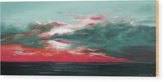 Bound Of Glory - Panoramic Sunset  Wood Print