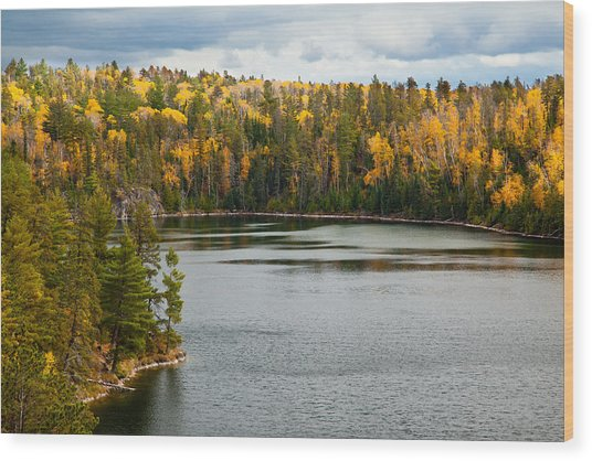 Boundary Waters Overlook Wood Print